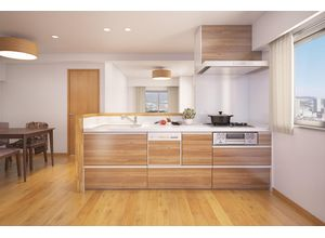 ■参考予想パース■ ビルトイン式の食器洗い乾燥機を標準設置しています。家事の手間を大幅に軽減してくれるお役立ちアイテムは、洗浄力が高いうえ、除菌効果にも優れています。